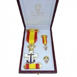 Set Merito Naval Distintivo...
