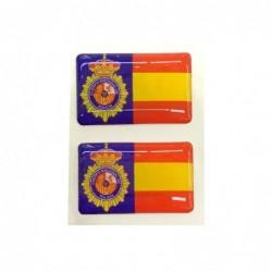 Set 2 Pegatinas Policia...