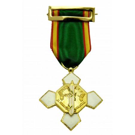 Cruz Completa Merito Policial Distintivo Blanco