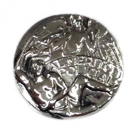 Medalla Merito Policial Categoria Plata Metal Completa