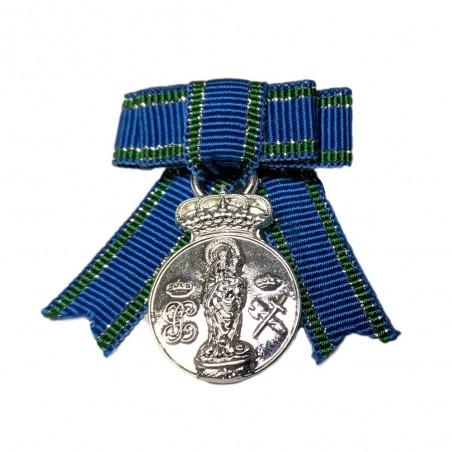 Medalla Completa Centenario Virgen del Pilar Plata Lazo Señora