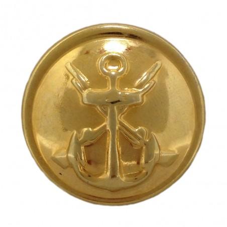 Boton Infantería Marina bombe oro fino