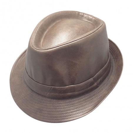 Flasher Sombrero Casual Piel Ala Corta
