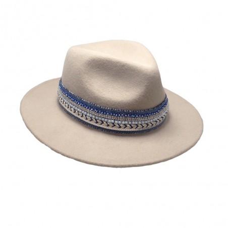 Riesa Sombrero Fedora Lana Ala Ancha
