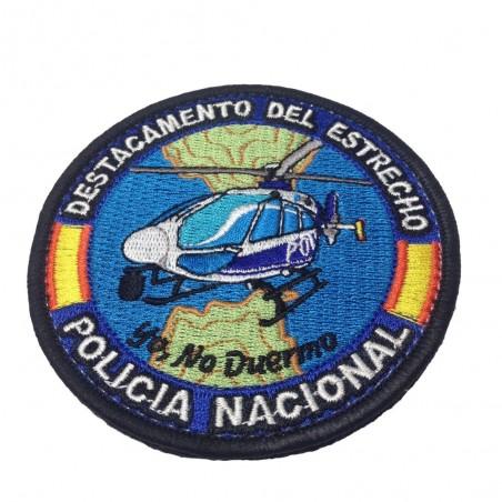 Parche Textil Bordado Circular Policia Nacional